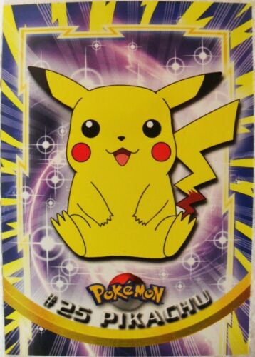 TOPPS TRADING CARDS COLLECTION 1a SERIE 1999 normale n° 25 Pikachu