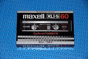 MAXELL XL I-S  60         BLANK CASSETTE  TAPE 1 SEALED
