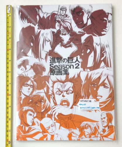 Attack on Titan season 2 japanese art book A4//144p wit studio from japan