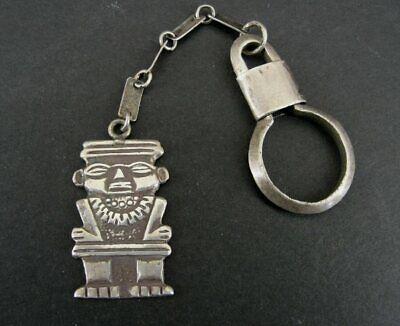 900 Silver Vintage Tribal God Design Key Chain