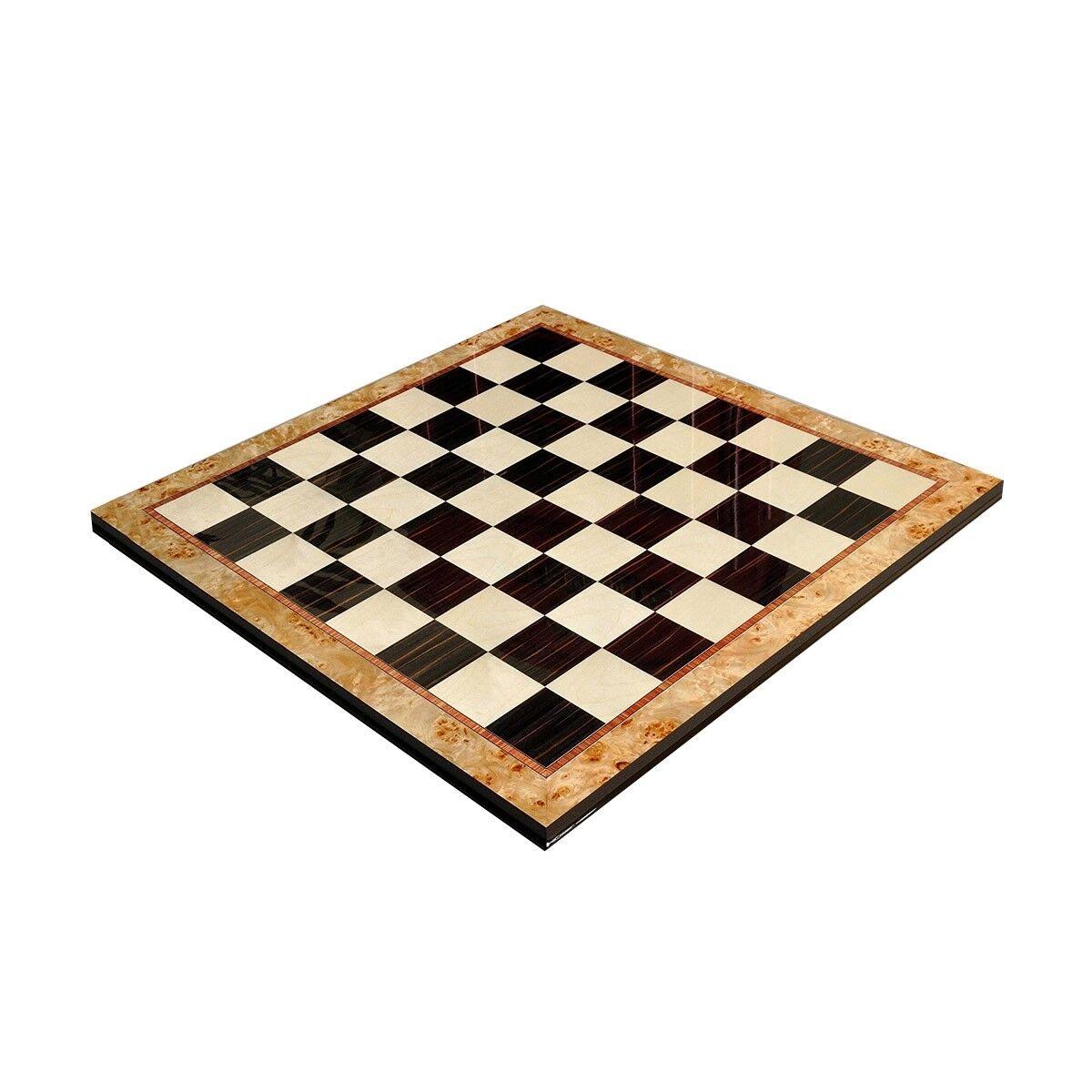 Maple Burl &  ébène Supérieure traditionnelle Chess Board - 2.5  voiturerés  prix ultra bas