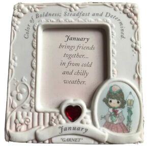 Precious Moments Frame Picture Birthday Frame January Garnet Vintage