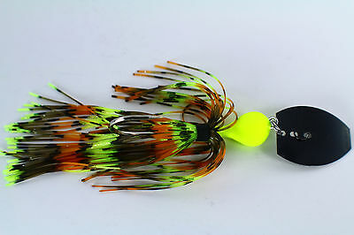 "/""BLACK OUT/"" CHOOSE BLADE 3//8-1oz VIBRATING VENOM CHATTER JABBER BAITS"