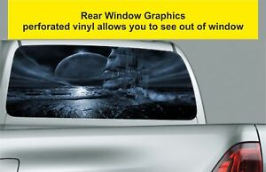 Window-Graphic-Tint-Truck-Jeep-SUV-Fantasy-Pirate-Ship-Sticker-Decal-492