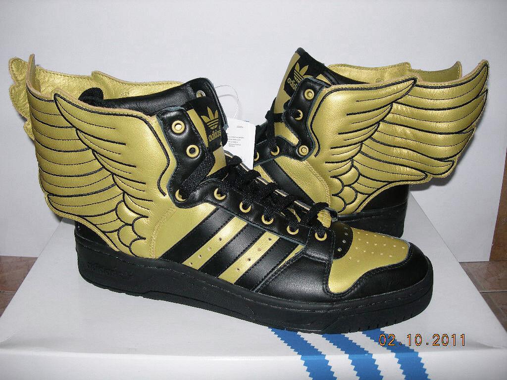 2010 ADIDAS JEREMY SCOTT JS WINGS 2.0 gold FR39 1 3 UK6 usa flag G44824 3.0 asap