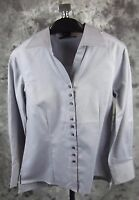 Oobe Shirt Top Small Gray Classic Career Womens