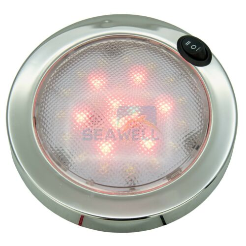 LED Boat Dome Light RV Caravan Cabin Interior Light White//Red 12V 30PCS P4 LED