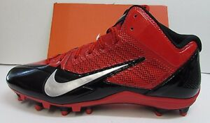 Image is loading Nike-Alpha-Pro-Football-Cleats-Red-Black-Size-