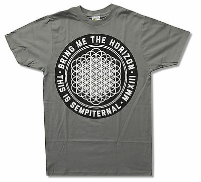 """BRING ME THE HORIZON """"SEMPITERNAL"""" GREY T-SHIRT NEW OFFICIAL ADULT BMTH"""