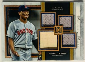 RAFAEL DEVERS 2020 TOPPS MUSEUM GAME USED BAT JERSEY RELIC #d /75 BOSTON RED SOX