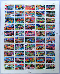 Full-Sheet-of-50-34-Cent-State-Stamps-USA-2001-Scott-3561-3610-Mint-Free-Ship