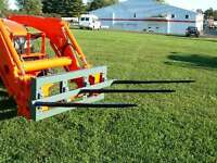 Skid Steer Triple Bale Spear Attachment 3 X 39 Prong Cat-m Hay Bale Handler