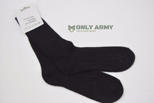 2 x Dutch Army 75/% Wool Socks Black Military Walking Hiking Cadets Thick /& Warm