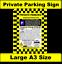 No-Parking-Sign-Private-Parking-Car-Park-Enforcement-Wheel-Clamp-Keep-Clear thumbnail 1