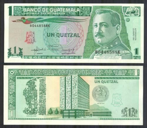 P 73c P73c GUATEMALA UNC 1 Quetzal 1992 Banknote Note