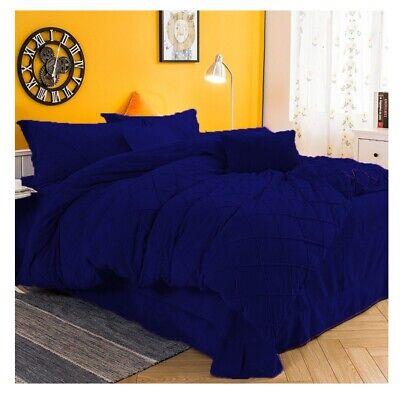 Pintuck Velvet Royal Blue Duvet Cover, Royal Blue Queen Bed Sheets