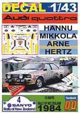 DECAL 1/43 AUDI QUATTRO A2 HANNU MIKKOLA R.NEW ZEALAND 1984 DnF (03)