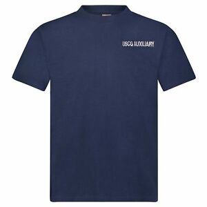 USCG-Auxiliary-Genuine-Issue-Cotton-T-Shirt-Soffe-Made-in-the-USA-Embroidered