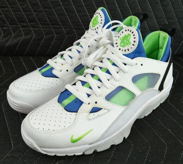 89b8f794ada1 Nike Air Trainer Huarache Low Shoe Sneaker Size 9 Scream Blue 749447 ...