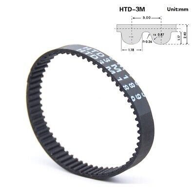 HTD 3M Closed  Timing Belt 3mm pitch 10-15mm Width CNC Drives-111mm to 126mm
