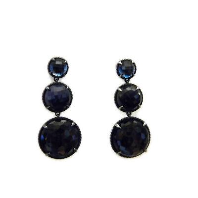 David Yurman Triple Drop Chatelaine Earrings in Ultramarine Blue/Purple NWT