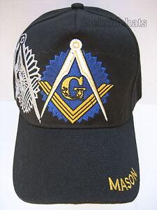 MASONIC Hat Cap Black New FREEMASON MASONIC LODGE   Free Shipping ... a4fbe6014ea8