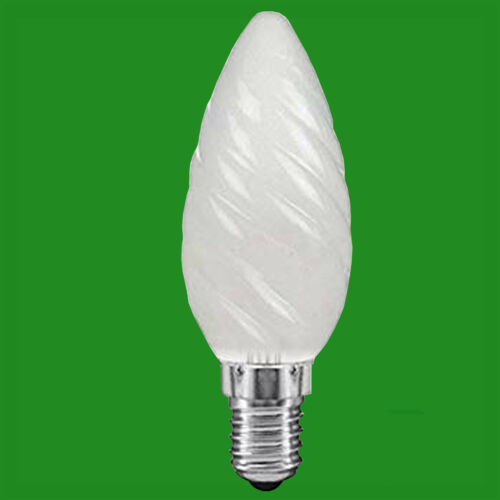 2x 60W Frosted Twisted Candle SES E14 Small Edison Screw Light Bulb Lamp
