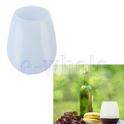 Silicone Party Wine Glass Unbreakable Outdoor Beer Whiskey Portable Cups HM