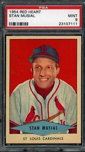 STAN-MUSIAL-1954-TOPPS-RED-HEART-BASEBALL-CARD-PSA-9