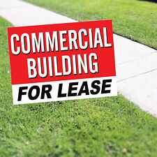 Commercial Building For Lease Indoor Outdoor Advertising Coroplast Yard Sign
