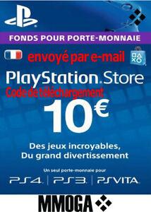 10-EUR-Carte-PlayStation-Network-10-EURO-PSN-Code-Jeu-Compte-francais-FR