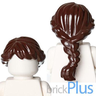 New LEGO Dark Brown French Braided Female Minifig Hair