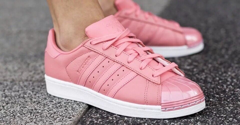 1711 ADIDAS ORIGINALS SUPERSTAR BY9750 METAL TOE pink WOMEN'S SNEAKERS SHOES