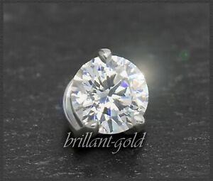 Brillant-Diamant-585-Gold-Anhaenger-0-36ct-VS2-14-Karat-Weissgold-Damenanhaenger