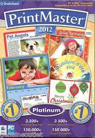 Printmaster 2012 Platinum Greeting Cards Banners For (pc/mac Dvd) Sealed