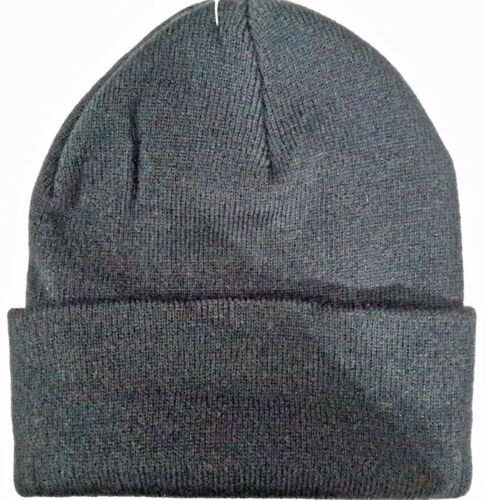 EMBROIDERED BEANIES 100/% acrylic Cuffed Beanie Cap STITCHED New LOWE/'S