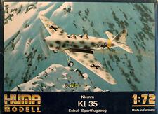 Klemm Kl 35 Schul- / Sportflugzeug 1:72 Huma Modell 2501 Luftwaffe 2. Weltkrieg