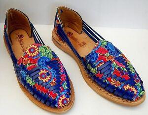 d691d94665424 Details about Sandal huarache leather women Mexico casual Flat shoes Close  Toe Slip on Multico