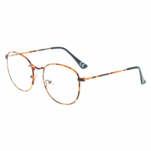Brown Claire/'s Girl/'s Tortoiseshell Round Clear Lens Frames