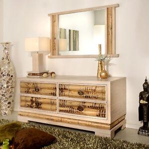 Designer Kommode Eco Weiss Gross Bambusmobel Bambusschrank Sideboard