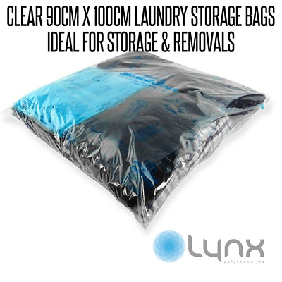 5 x Large Strong Clear Plastic Polythene Linen Bedding Storage Removal Bags