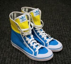 Adidas High Top Sneakers Womens Trainers Sport Shoes Yellow ...