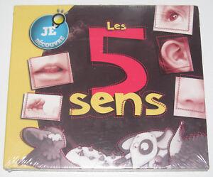 Histoires-a-Ecouter-CD-Les-5-Sens-Je-Decouvre-NEUF