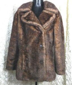 ce2381b49eca BB Dakota Pret A Porter womens M faux fur reversible coat button ...