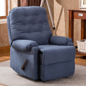 Ergonomic-Recliner-Tufted-Backrest-Chair-Armchair-Sofa-w-Handle-Living-Room-Blue