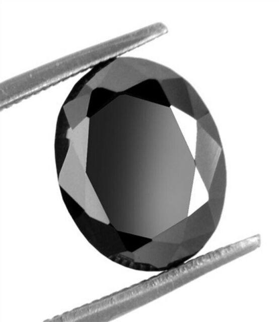 1pcs Natural Loose Diamond Oval Cut Black Diamond I3 Clarity 0.25ct to 3.0cts
