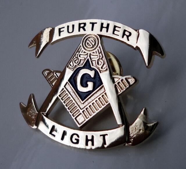 ZP200 Masonic Masons lapel pin badge with G Geometry Freemason Further Light