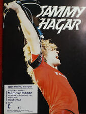 SAMMY HAGAR 1980 LIVE LOUD & CLEAR TOUR PROGRAMME & TICKET STUB VAN HALEN