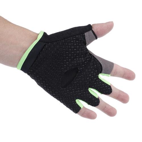 Women Men Sport Cycling Fitness GYM Workout Exercise Half Finger Gloves Bike new