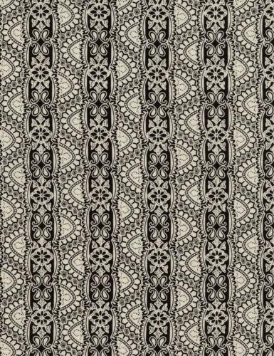 Fabric 100/% Cotton Timeless Lace black//white C4788